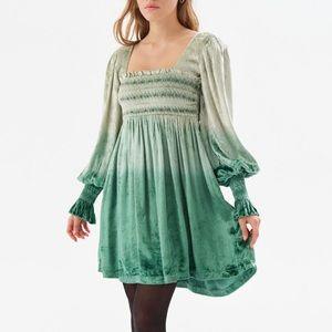 NWT UO Velvet Ombré Rhinestone Bohemian Dress